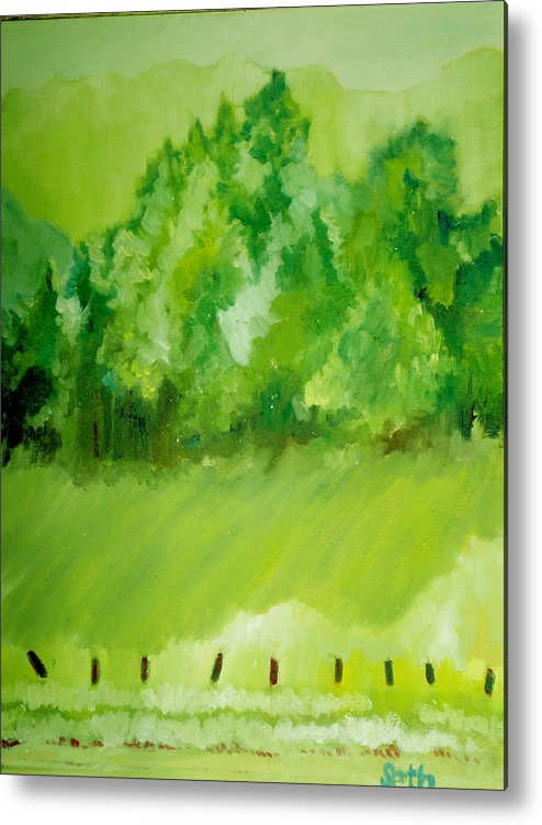 Spring Metal Print featuring the painting Sunday At Two Thirty by Seth Weaver