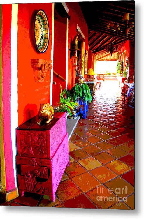 Darian Day Metal Print featuring the photograph Sunny Veranda By Darian Day by Mexicolors Art Photography