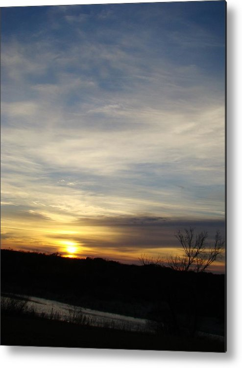 Landscape Metal Print featuring the photograph Sunrise River Four by Ana Villaronga