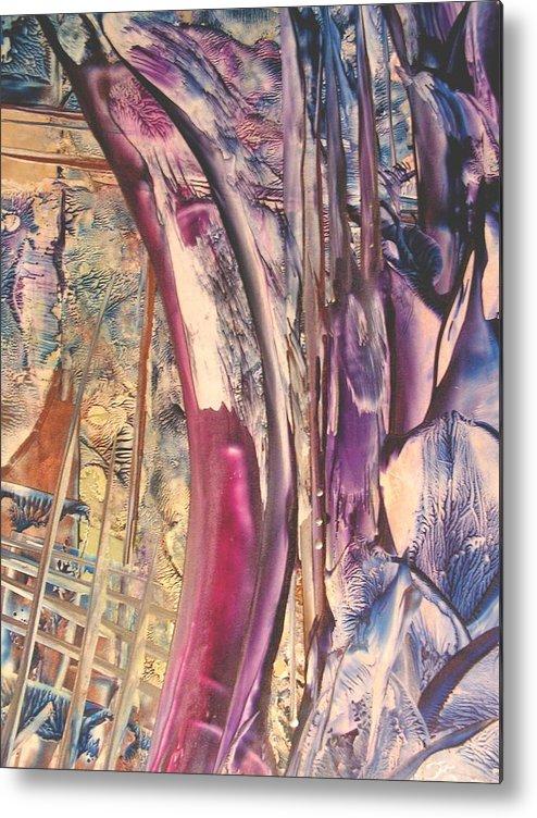 Abstract Metal Print featuring the painting Sunward by John Vandebrooke