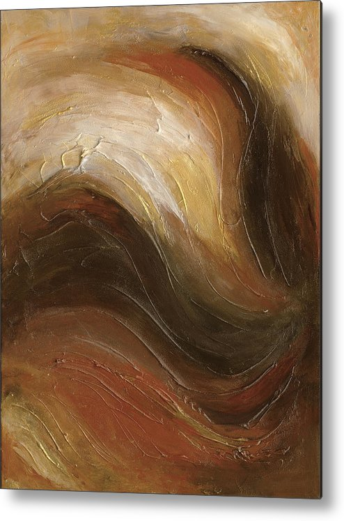 Browns Metal Print featuring the painting Swept Away by Desiree Roush