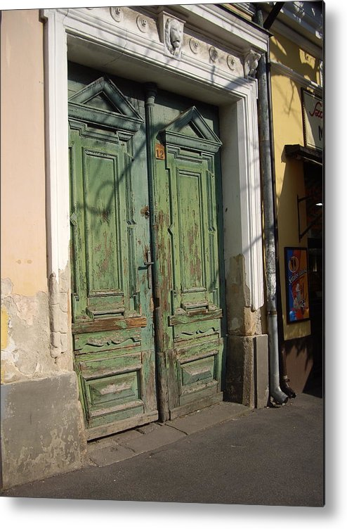 Rustic Metal Print featuring the photograph Szentendre Doors by Julie Ringer