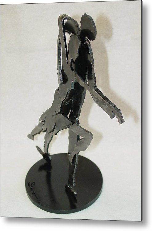 Steel Metal Print featuring the sculpture Tango Sold by Steve Mudge