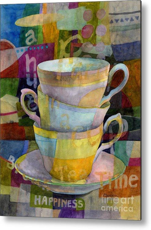 Tea Time Metal Print featuring the painting Tea Time by Hailey E Herrera