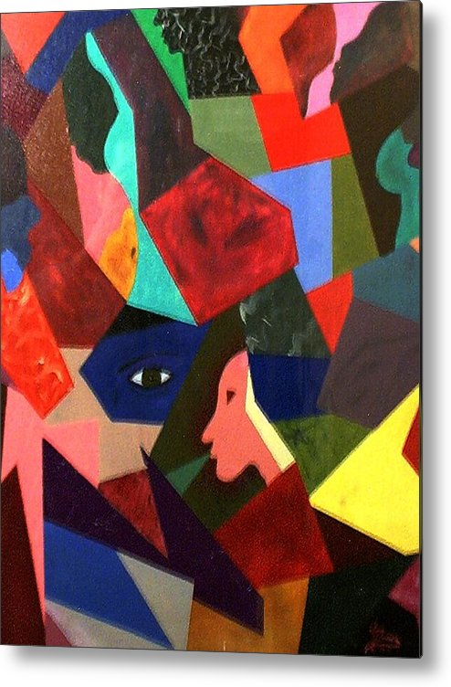 Geometric Art Metal Print featuring the painting The Birth by Guillermo Mason