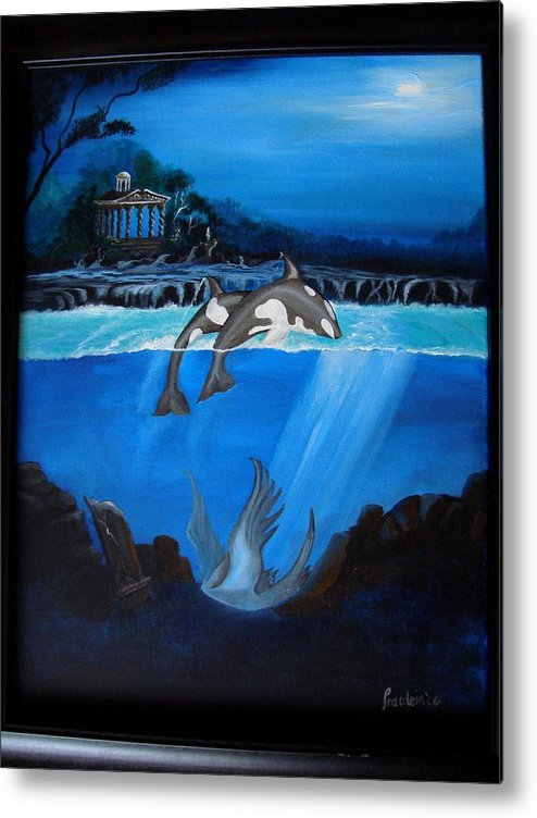 Seascape Metal Print featuring the painting The Fallen by Glory Fraulein Wolfe