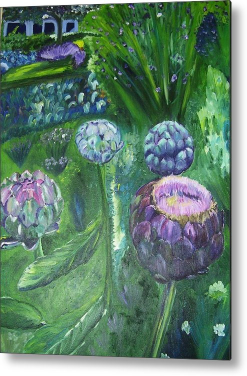 Vegetables Metal Print featuring the painting The Garden by Murielle Hebert