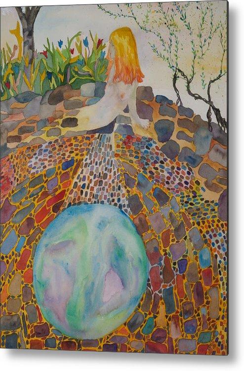 Kiva Metal Print featuring the painting The Kiva by Aline Kala