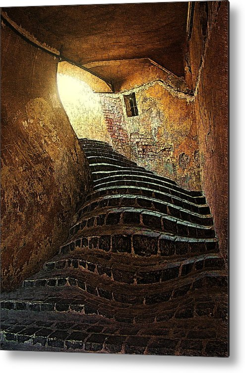 Fine Art Metal Print featuring the photograph The Light At The End Of The Tunel by Lucian Badea