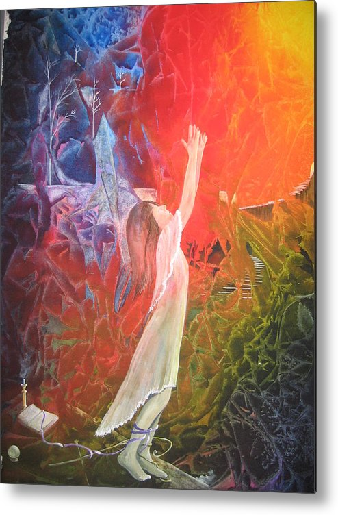 Cover Art Metal Print featuring the painting The Light by Jackie Mueller-Jones