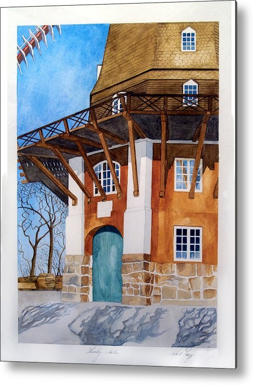 Windmill Metal Print featuring the painting The Lumby Mill by Robert Lacy