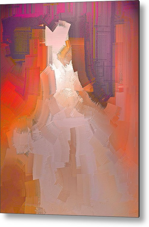 Abstract Metal Print featuring the digital art The Past Warns The Future by Michael Durst