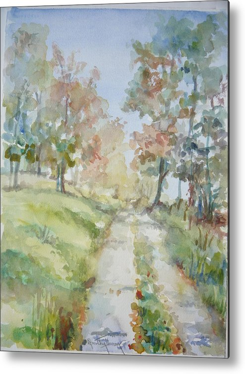 Landscape Metal Print featuring the painting The Road Home by Dorothy Herron