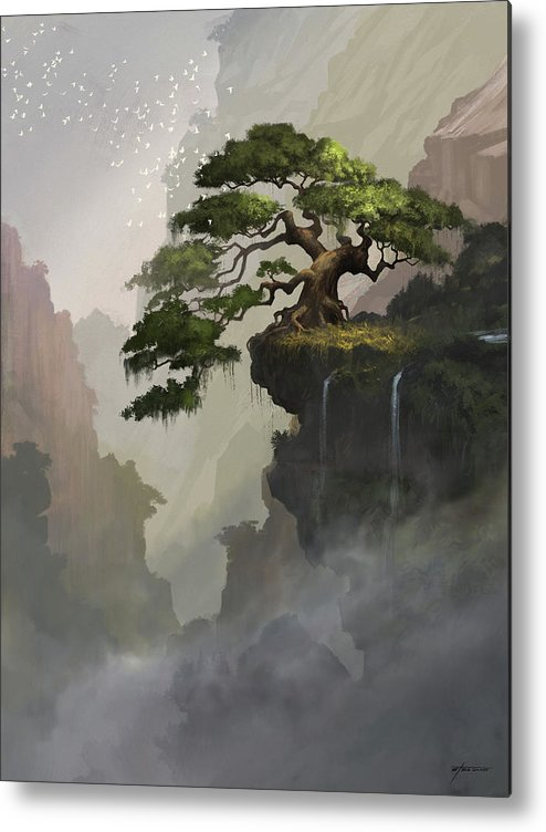 Asian Metal Print featuring the digital art The Tree by Steve Goad