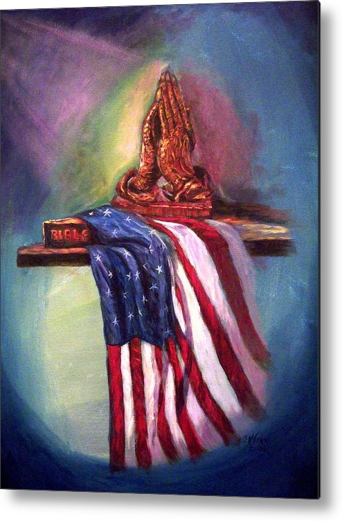 American Flag Metal Print featuring the painting The Way It Was by Tommy Winn