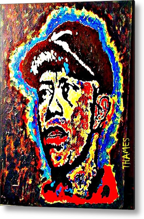 Tiger Metal Print featuring the painting Tiger Woods by Christopher Thames