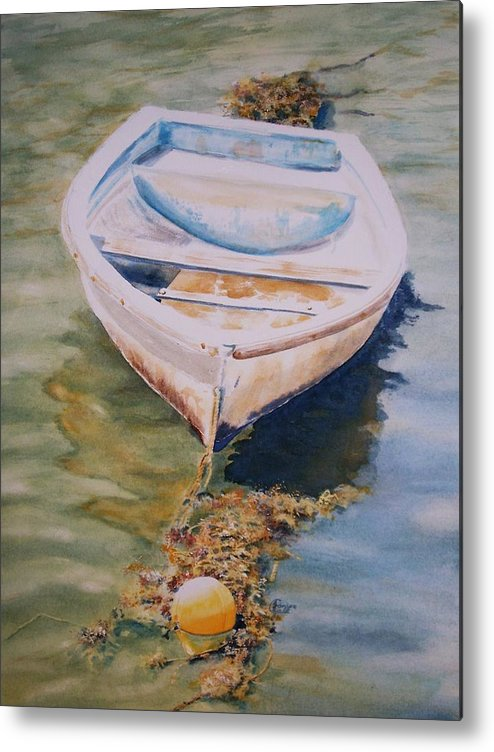 Boat Metal Print featuring the painting Time N Tide by Janice Gell