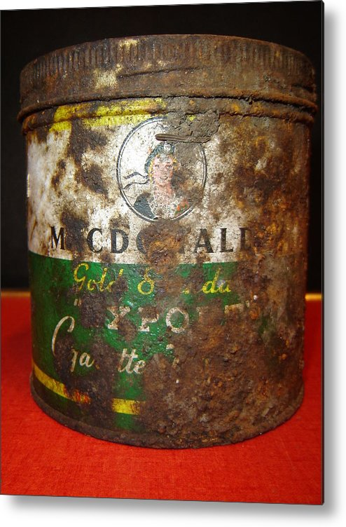 Antiques Metal Print featuring the photograph Tobacco Can by Dean Corbin