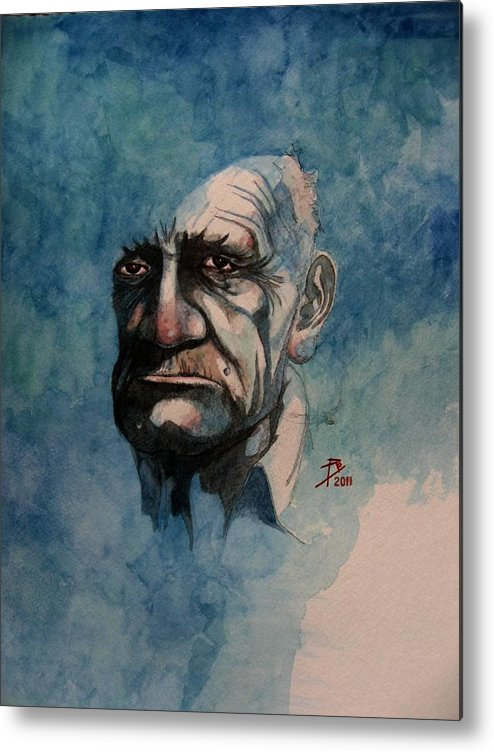 Male Metal Print featuring the painting Tom by Ray Agius