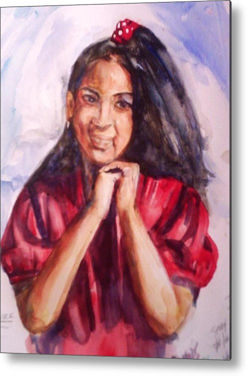 Portrait Metal Print featuring the painting Tooter by Impressionist FineArtist Tucker Demps Collection