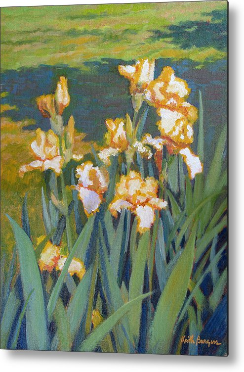 Impressionism Metal Print featuring the painting Trimmed In Gold by Keith Burgess