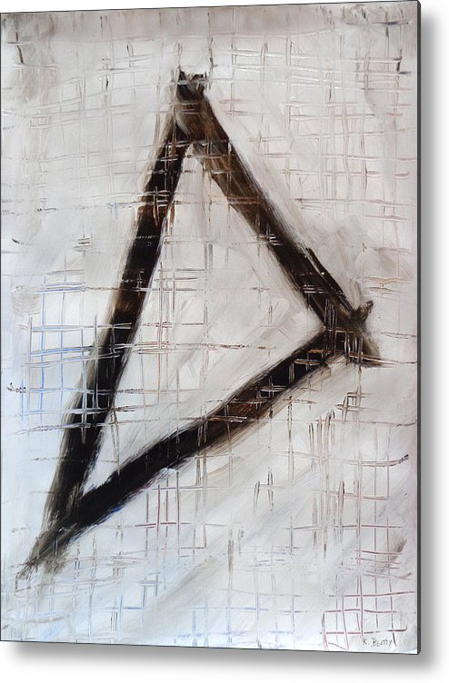 Abstract Metal Print featuring the painting Trinity Channels Abstract Painting by Karla Beatty