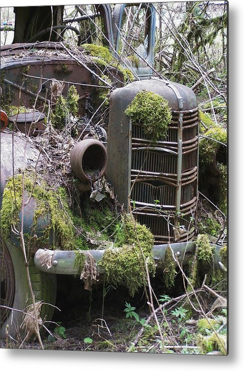 Truck Metal Print featuring the photograph Truck Grill by Gene Ritchhart