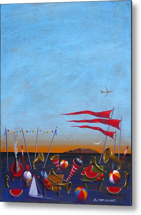 Piano Metal Print featuring the painting Trumpets Of The Mediterranean by Dimitris Milionis