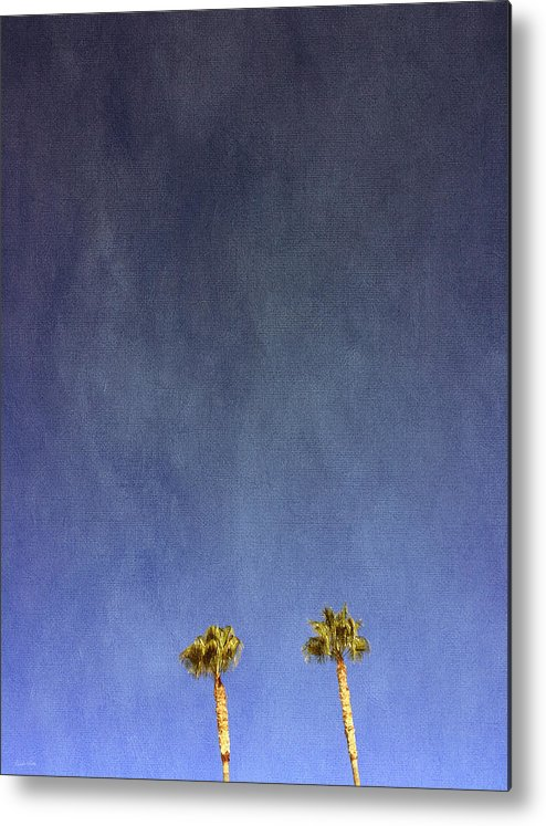Palm Trees Metal Print featuring the photograph Two Palm Trees- Art By Linda Woods by Linda Woods