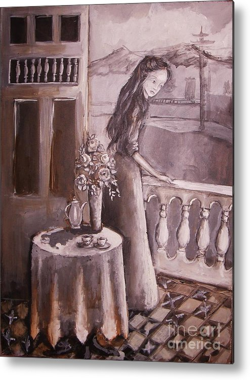 San Juan Metal Print featuring the painting Untitle by Mya Fitzpatrick