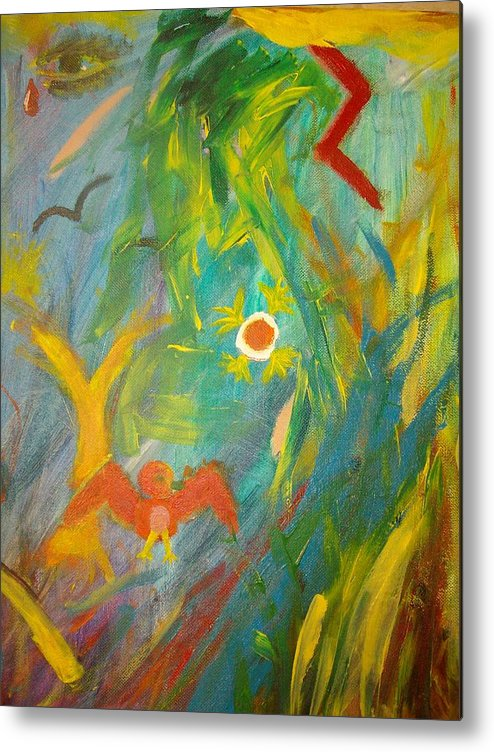 Bird Metal Print featuring the painting Untitled by Samantha Gilbert