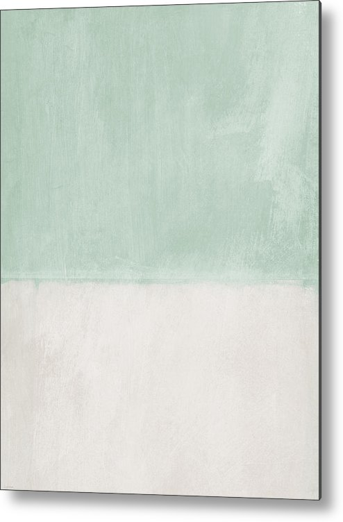 Sage Metal Print featuring the painting Upon Our Sighs 2- Abstract Art by Linda Woods