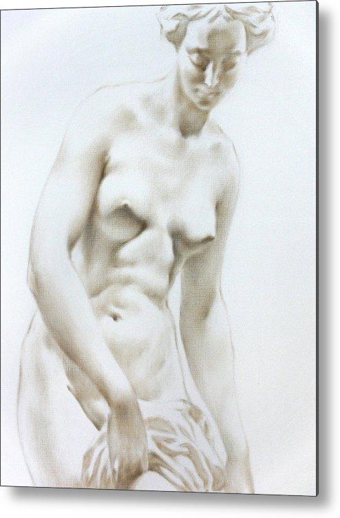 Woman Metal Print featuring the painting Venus1b by Valeriy Mavlo