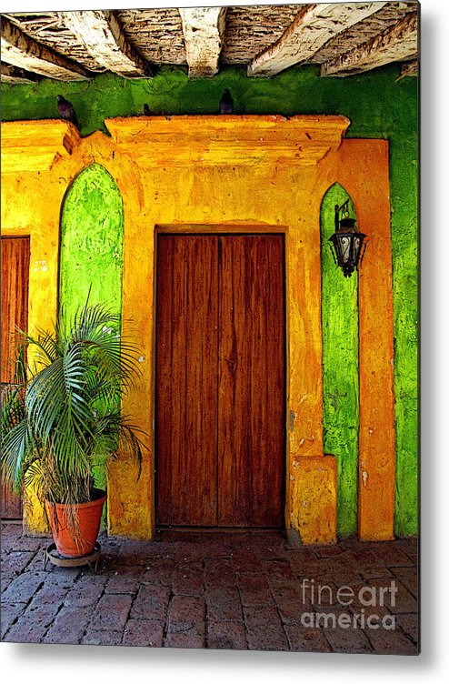 Darian Day Metal Print featuring the photograph Veranda El Quilete by Mexicolors Art Photography