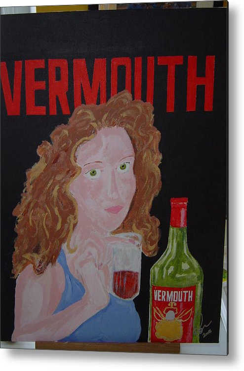 Acrylic Metal Print featuring the painting Vermouth by Raymond Nash