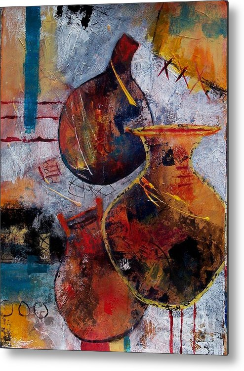 Abstract Expressionism Metal Print featuring the painting Vessels by Donna Frost