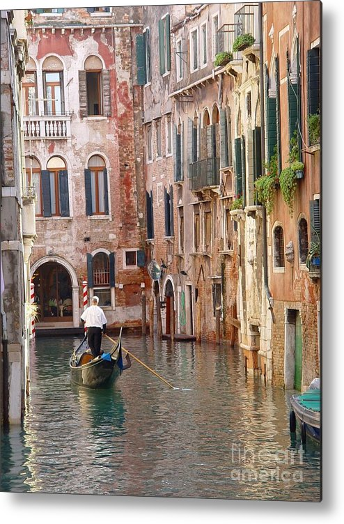 Metal Print featuring the photograph Visions Of Venice 2. by Nancy Bradley