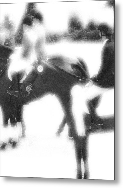 Horse Metal Print featuring the photograph Waiting The Call by Donna Thomas