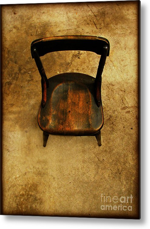 Alone Metal Print featuring the photograph Waiting To Say Goodbye by Dana DiPasquale