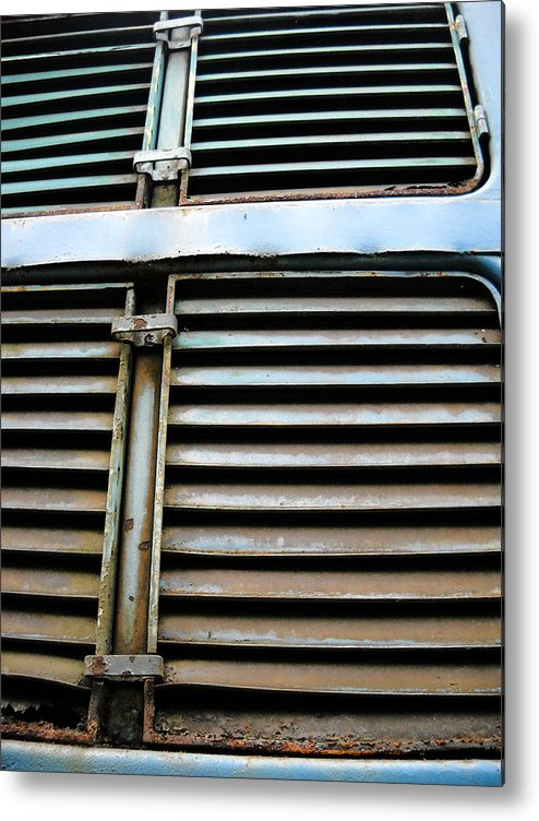 Blue Metal Print featuring the photograph Weathered Metal by Julia Raddatz