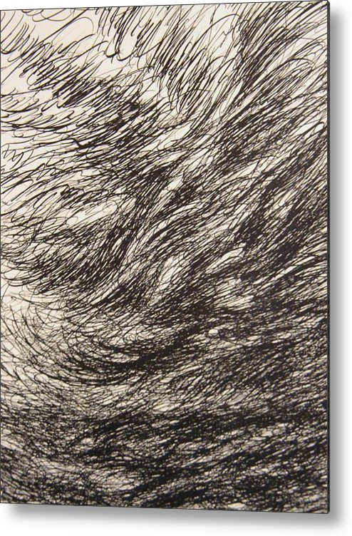 Landscape Metal Print featuring the drawing Weighty by Uwe Schein