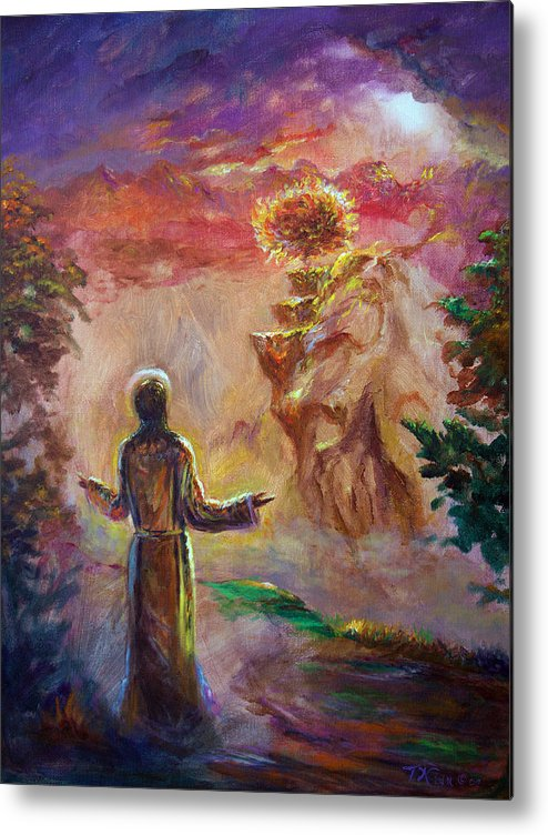Holy Spirit Metal Print featuring the painting when the Lord called Moses by Tommy Winn