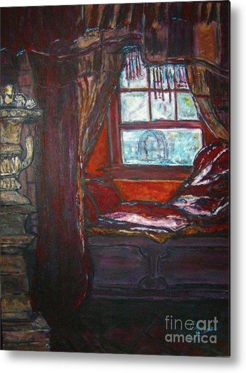 Windowseat Metal Print featuring the painting Wilhelmina's Windowseat by Helena Bebirian