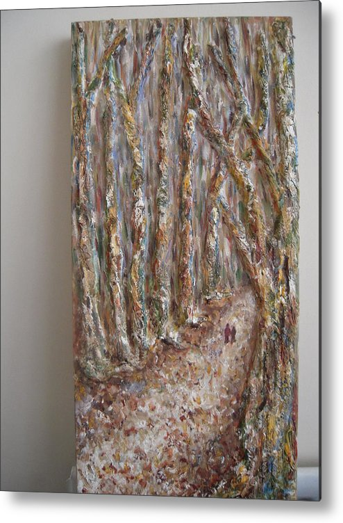 Metal Print featuring the mixed media Winter by Raj Art