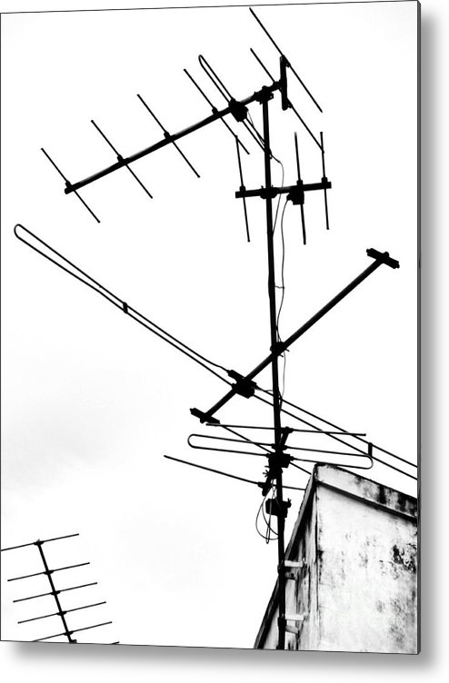 Wires Metal Print featuring the photograph Wired by Tara Turner