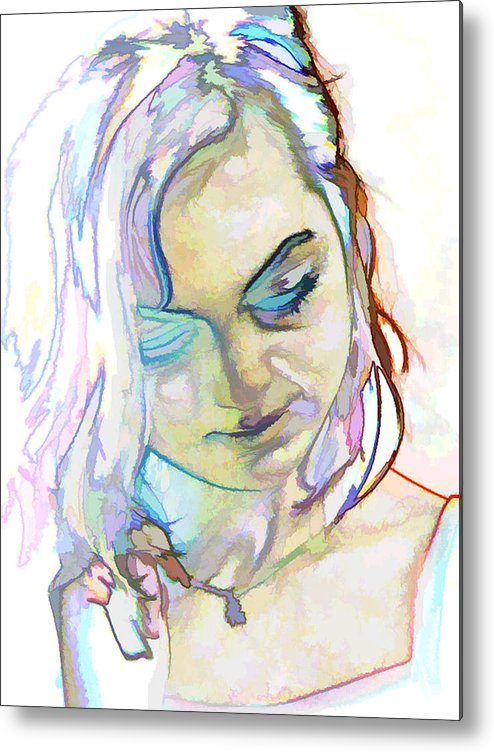 Photography Metal Print featuring the photograph Women Body - Color Face1 by Robert Litewka