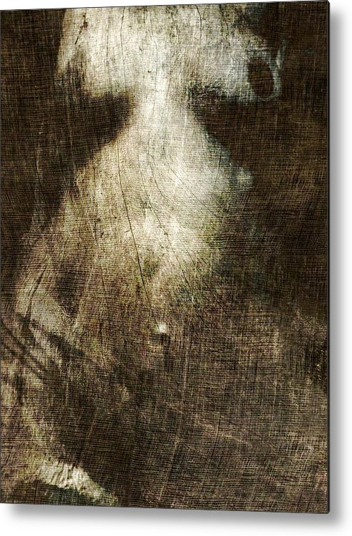 Artistic Nude Metal Print featuring the photograph Xyz...........124 by Philippe Berthier