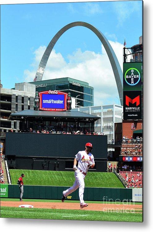 St. Louis Cardinals Metal Print featuring the photograph Arizona Diamondbacks V St Louis 1 by Jeff Curry