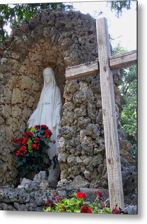 Holy Mary Metal Print featuring the photograph Blessed Art Thou by Gordon Beck