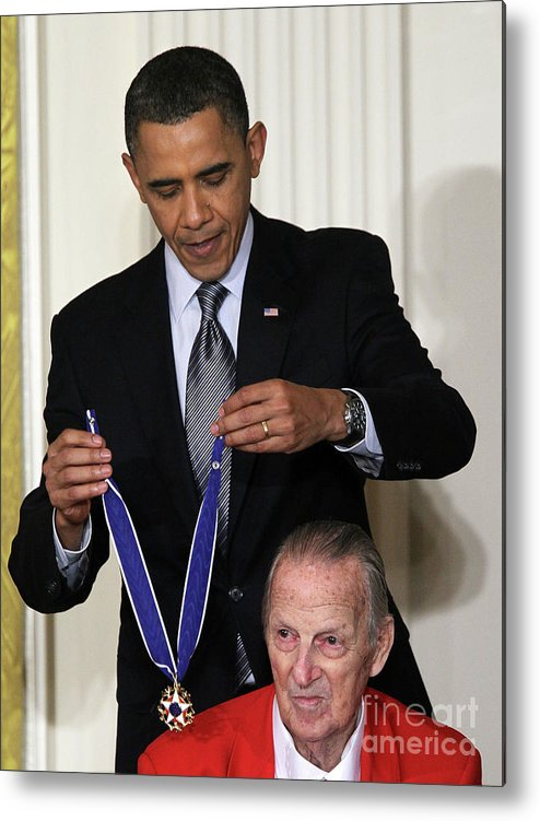 Event Metal Print featuring the photograph President Obama Honors Medal Of Freedom 3 by Alex Wong